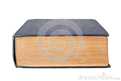 Bottom edge of a book