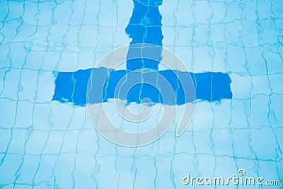 Bottom Lane Line Of Swimming Pool Stock Photo Image