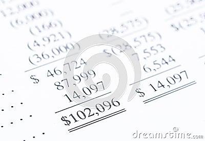 Bottom line of financial statement