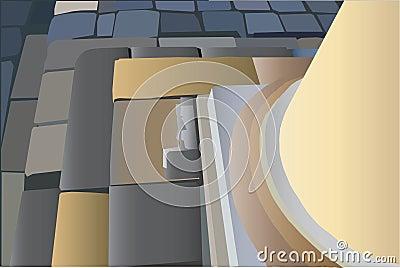 Bottom of round column