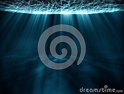 Boucle sous-marine surréaliste de rayons légers de voyage banque de vidéos