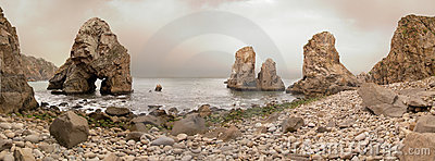 Boulder beach at Cabo da Roca