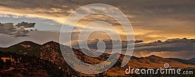 Boulder Colorado Mountain Range Panorama