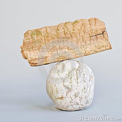 Boulder an wood