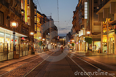 Boulevard in Geneva, Switzerland