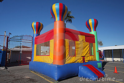 Bounce house from a distance