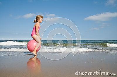 Bouncing at the beach