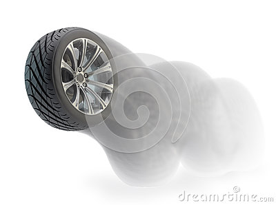 Bouncing car wheel