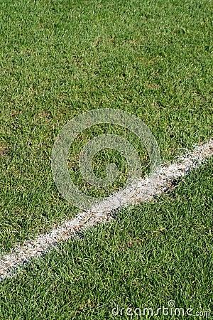 Boundary line soccer field