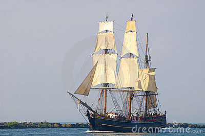 Bounty under sail Editorial Stock Photo
