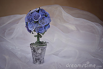 Bouqet of blue roses