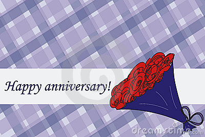 Bouquet anniversary card