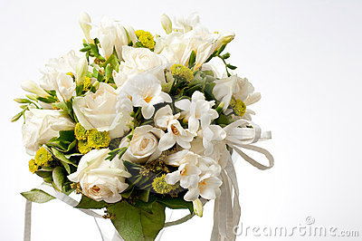 Bouquet Blanc De Mariage Photo stock - Image: 12832120