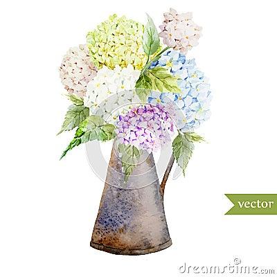 bouquet d 39 hortensia illustration de vecteur image 50176911. Black Bedroom Furniture Sets. Home Design Ideas