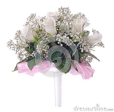 Bouquet de mariage sur un blanc