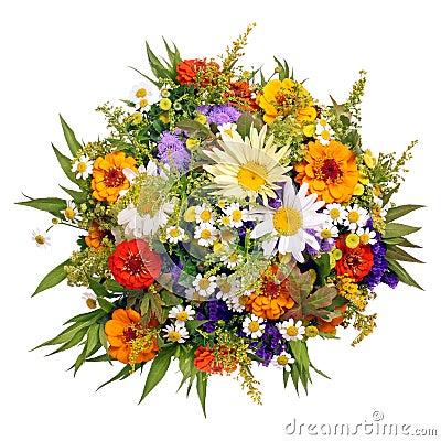 Bouquet Des Fleurs Du Jardin Dagriculteurs Photos libres de droits ...