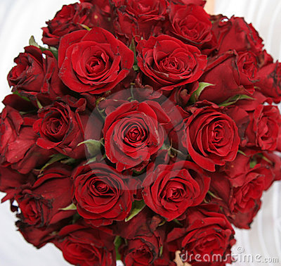 Bouquet des roses rouges