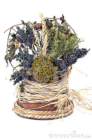 Bouquet of dry herbs