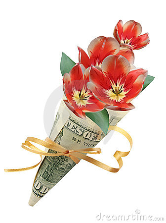Bouquet en cents dollars