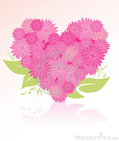 bouquet en forme de coeur de fleur photos stock image 4012343. Black Bedroom Furniture Sets. Home Design Ideas
