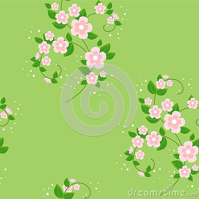 Bouquet of flowers. Spring beautiful background. Texture for wallpaper clothes. Vector illustration Cartoon Illustration