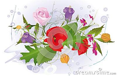 Bouquet from garden