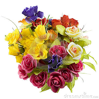 Free Bouquet Of Colored Silk Flowers Royalty Free Stock Photography - 24167137