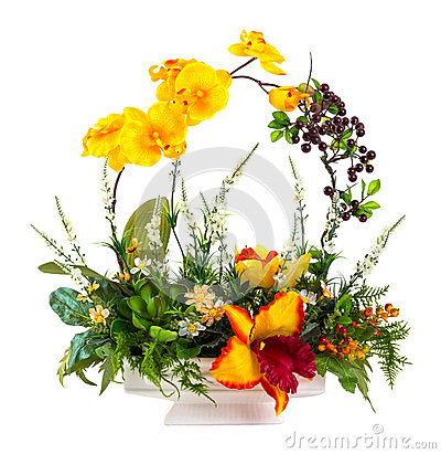 Free Bouquet Of Flowers In Ceramic Pot Royalty Free Stock Photo - 31909605