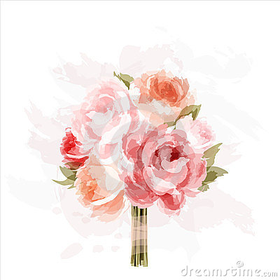 Free Bouquet Of Peonies Stock Image - 23652171