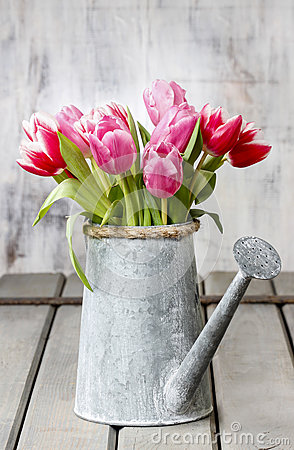 Free Bouquet Of Pink And Red Tulips Royalty Free Stock Photos - 38333838