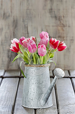 Free Bouquet Of Pink And Red Tulips Stock Photography - 39412752