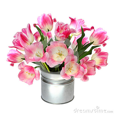 Free Bouquet Of Pink Tulips Stock Photos - 49368423