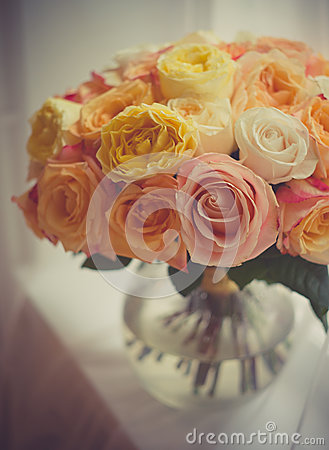Free Bouquet Of Roses Stock Image - 56409451