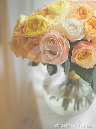 Free Bouquet Of Roses Stock Images - 56410594