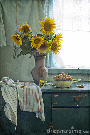 Free Bouquet Of Sunflowers And Apricots Stock Photography - 20274602