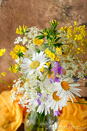 Free Bouquet Of Wild Flowers Stock Photography - 95455862