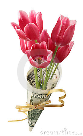 Bouquet in one hundred dollars