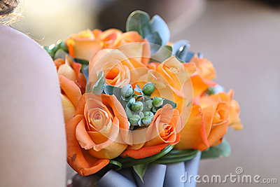 Bouquet of orange flowers