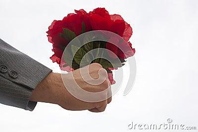 Bouquet of Plastic Roses