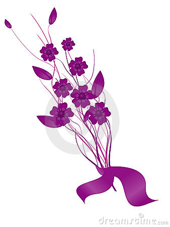 bouquet of purple flowers stock images image 7213364