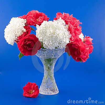 Bouquet with rose and hydrangea