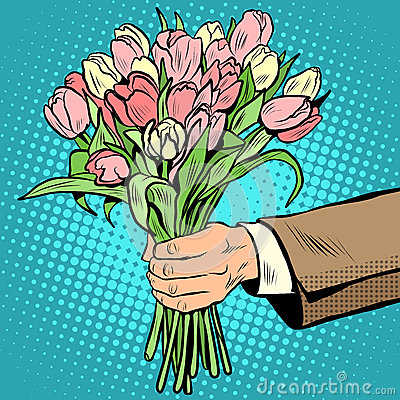 Free Bouquet Tulips Flowers Gift Stock Photo - 66553540