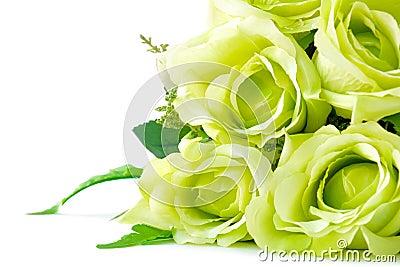 Bouquet vert de fleur sur le fond blanc photo stock for Bouquet de fleurs vert et blanc
