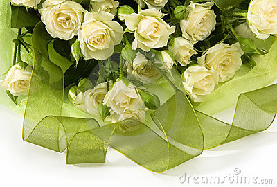 Bouquet from white roses