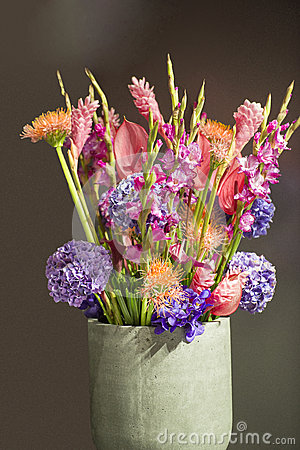 Free Bouquet With Exotic Flowers Stock Photo - 37119190
