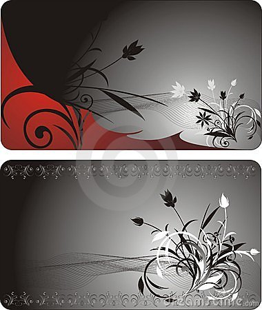 Bouquets. Decorative background for two cards
