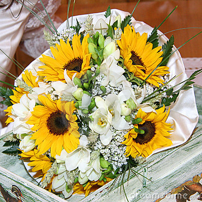 Bouquets of sunflowers