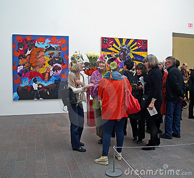 Bouquets to Art exhibition Editorial Stock Photo