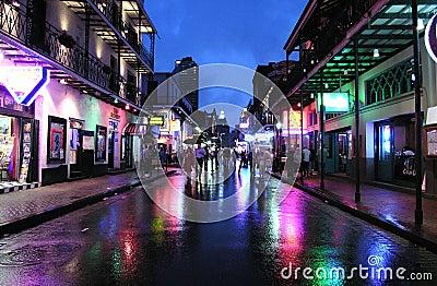 Bourbon-Nacht Redaktionelles Bild