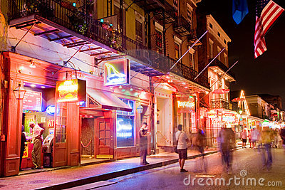 Bourbon street Editorial Stock Photo